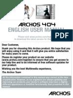 Archos 404 User Manual