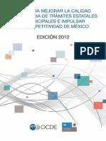 OCDE (2012) Guia Mejora Tramites Estatales y Municipales