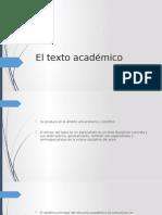 El Texto Académico