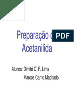8 - Preparação Da Acetanilida LIC 2007
