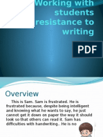 SLOT T-Working With Students Resistance to Writing (SDKN)