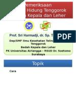 Pemeriksaan THT-KL (Prof Harmadji)