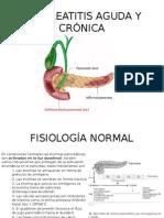 Pancreatitis Aguda y Crónica