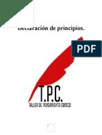 Declaración de Principios Taller de Pensamiento Critico.