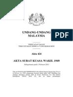 Akta 424 - Akta Surat Kuasa Wakil 1949.pdf