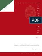 Impacto Reforma Tributaria en La Inversion - Quiñonez