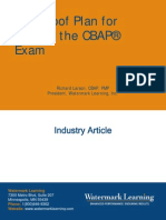 CBAP Certification Foolproof Plan