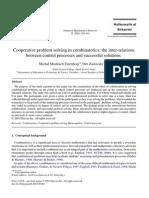 Cooperative Problem Solving in Combinatorics