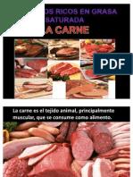 3. Carnes Alimentos Ricos en Grasa Saturada