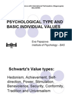 PSYCHOLOGICAL TYPE AND BASIC INDIVIDUAL VALUES