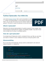 Python Bytecode- Fun With Dis - Allison Kaptur