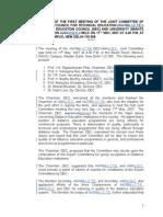 Jointcomittee Minutesofjointcommittee 1-1-11