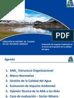 Evaluación de Impacto Ambiental en El Marco de La Gestión de La Calidad Del Agua
