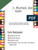 Mukmin, Murtad, Dan Kafir