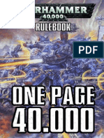 One Page 40k