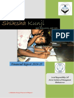 Shiksha Kunji Financial Report 2014-15