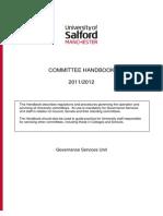 Committee Handbook 2011-12