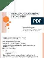 Web Programming Using Php