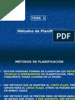 Tema 3 - Métodos de Planificación