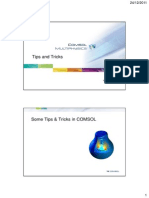 Comsol Multiphysics Tips and Tricks