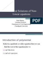 Solution of Non Linear Equations