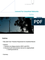 Earth Fault Requirement for Unearthed Networks