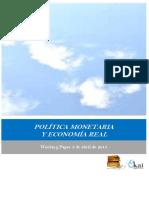 POLITICA MONETARIA Y ECONOMIA REAL