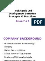 Wockhardt Ltd Divergence Between Precepts