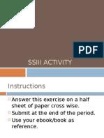 SSIII Activity