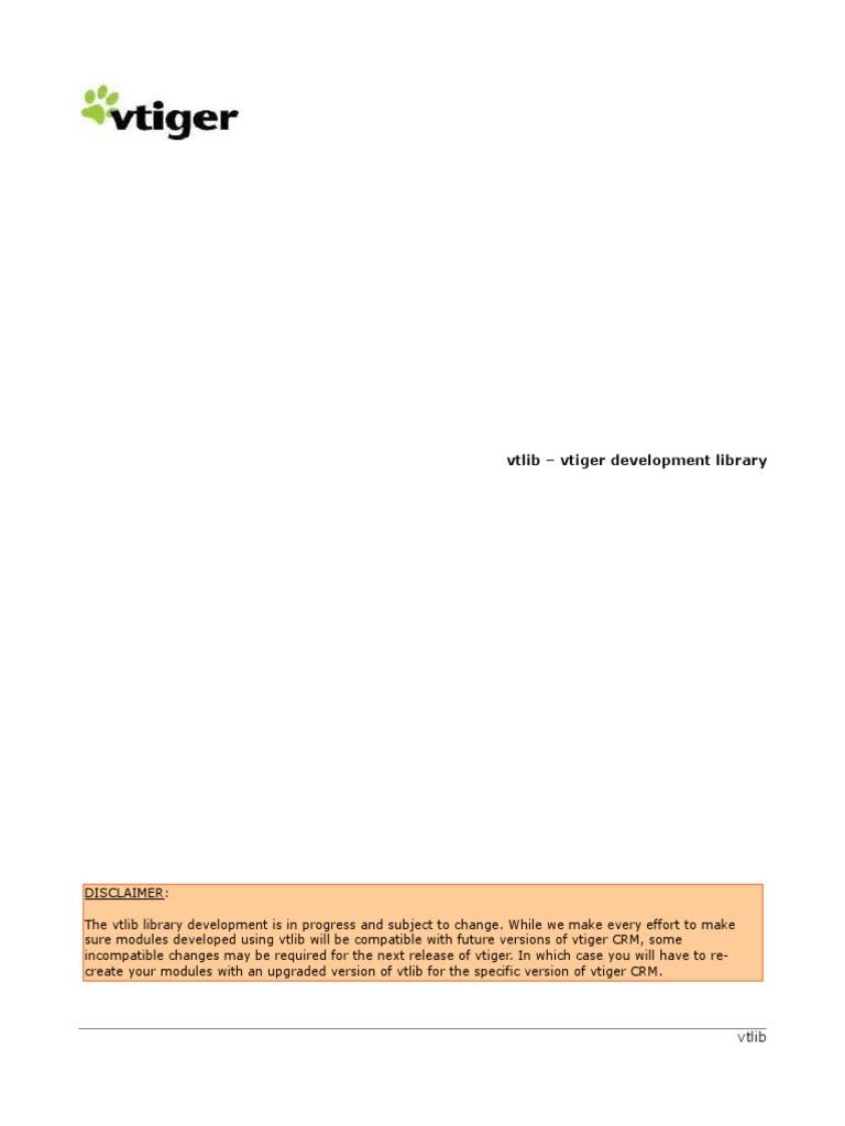 VtigerCRM_5 1 0_Vtlib | Application Programming Interface