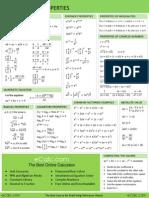 Formulário de Álgebra