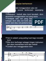 9 Asas Harmoni Nyanyian