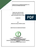 Historia de La Didactica de Las Ciencias Naturales 1