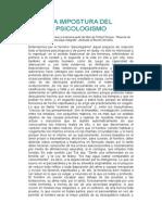 Schuon-LA IMPOSTURA DEL PSICOLOGISMO.doc