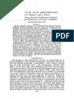 Kinetics of Clay Dehydration