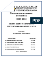 Islamic Economic System vs Conventional Economics System