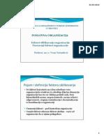 3. Faktori Oblikovanja Org. Unutarnji Faktori Oblikovanja