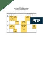Schedule Semester 2