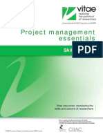Vitae Projectmanagementessentials 271108 V1 PDF