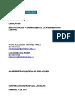 Ensayo Legislacion 22 Febrero 2015