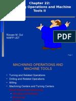 Chapter 22-Machining Operations II