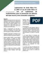 acido fólico preconcepción