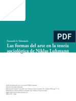 VALENZUELA, Fernando. Las Formas Del Arte en La Teoría Sociológica de Niklas Luhmann