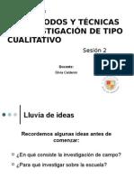 PPT-SESION2-Los Métodos y Técnicas de Investigación de Tipo Cualitativo