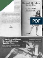 El medioes el mensaje - McLuhan Fiore