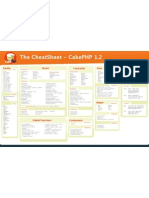 CakePHP 1.2 Cheatsheet