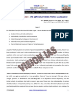 Analysis Approach Ias General Studies Mains 2010 Vision Ias