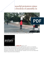 Arrest of 2 Peaceful Protesters Raises Questions on Freedom of Assembly in Singapore