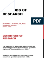 Methods of Research DMU