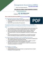 AIMA - World Bank PDPP Program